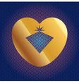 Brilliant In Golden Heart vector image