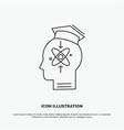 capability head human knowledge skill icon line vector image