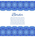card with mandala border blue wedding vector image