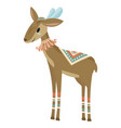 cartoon antelope indian a vector image vector image