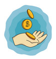 cartoon image of save your money flat vector image vector image