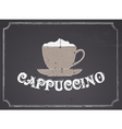 Chalkboard Cappuccino Design vector image vector image
