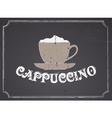 Chalkboard Cappuccino Design vector image