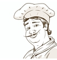 Chef character brown colors vector image