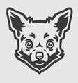 chihuahua head logo mascot emblem vector image