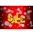 Christmas sale label with ribbons vector image vector image