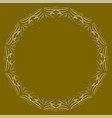 circle frame with lace patterns luxurious art vector image vector image