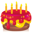 colorful birthday cake vector image vector image