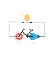 Creative bicycle logo design vector image