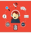 Customer support icon in flat style vector image