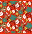 cutout style flower seamless pattern vector image vector image