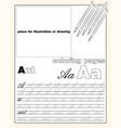 design 1 page layout english alphabet