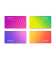 elegant colorful trendy banners collection vector image