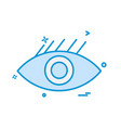 eye icon design vector image