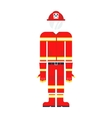 Firefighter costume vector image
