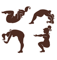 fitness silhouettes vector image vector image