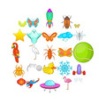 flank icons set cartoon style vector image