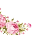 Floral garland template vector image