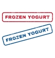 Frozen Yogurt Rubber Stamps vector image vector image