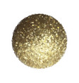 golden sphere isolated on white vector image vector image