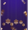 greeting card template with snowflakes vector image vector image