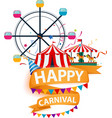 happy carnival element background vector image