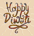 happy diwali concept background hand drawn style vector image