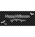 happy halloween created from chain vector image vector image