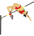 high jumper vector image vector image