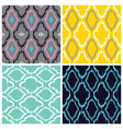 Ikat Seamless Pattern Collection vector image
