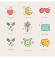 Insomnia Line Icons vector image vector image