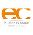 letter e c alphabet element icon vector image vector image