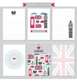 London United Kingdom printable collection vector image