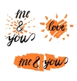 Love lettering 14 A vector image vector image