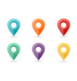 map pin flat design style icon set vector image