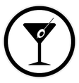 Martini glass button vector image vector image