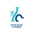 Modern dance school logo template vector image