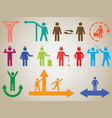 Pictogram people activities vector image vector image