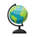 planet earth minimalistic globe on white vector image vector image