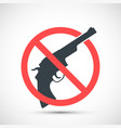 red prohibition sign for weapons vector image