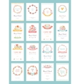Romantic vintage cards collection vector image vector image