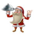 santa cooking christmas food vector image vector image