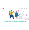 senior couple dancing website landing page vector image