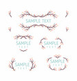 set of floral frames wedding ornament concept vector image vector image