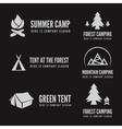 set of modern camp badges logo emblem vector image vector image