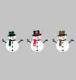 snowman isolated christmas icons vector image vector image