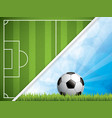 soccer ball brochure vector image vector image