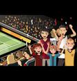 soccer fans in stadium vector image