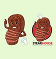 steak mascot design for steakhouse vector image vector image