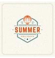 Summer Holidays Typography Label Design on Grunge vector image vector image